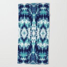 Celestial Nouveau Tie-Dye Beach Towel