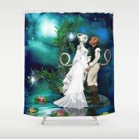 wedding Shower Curtains featuring Wedding Day by Simone Gatterwe