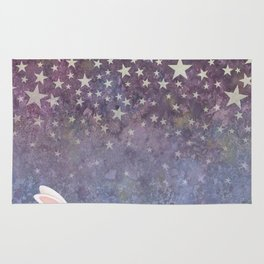 bunnies under the stars Rug
