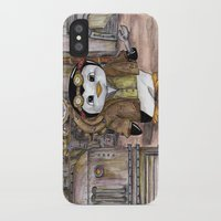 engineer iPhone & iPod Cases featuring Penguin Engineer by Tanya Davis Art