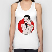 asia Tank Tops featuring girl asia by Egudin