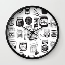 Jams and Chutneys Illustrated Alphabet Wall Clock