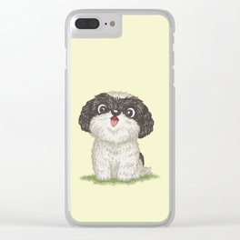 Shih Tzu happy Clear iPhone Case