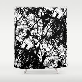Light through the branches Shower Curtain