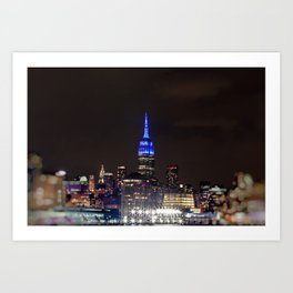 Midtown Manhattan at Night Art Print