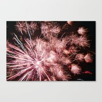fireworks Canvas Prints featuring Fireworks by For the easily distracted...