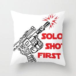 Han Shot First Throw Pillow