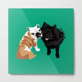 Bailey and Buddy Metal Print