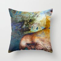 elephants Throw Pillows featuring Elephants by Stephen Linhart