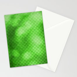 Green Flash small scallops pattern with texture Stationery Cards
