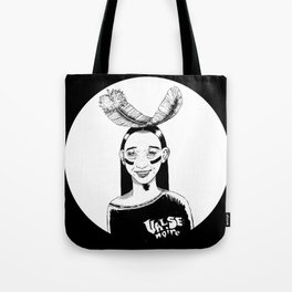 La jeune fille et la plume // Young girl and the feather Tote Bag