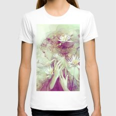 Pond Womens Fitted Tee X-LARGE White