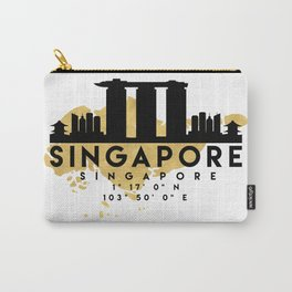 SINGAPORE SILHOUETTE SKYLINE MAP ART Carry-All Pouch