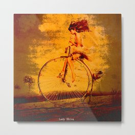 """ The life, it is as a bicycle, it is necessary to move forward not to lose the balance. "" Metal Print"