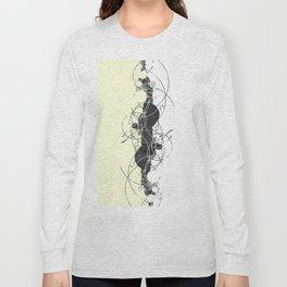 Minimalist geometrical two toned Pattern Long Sleeve T-shirt