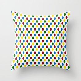 School Days Polka Dots Throw Pillow