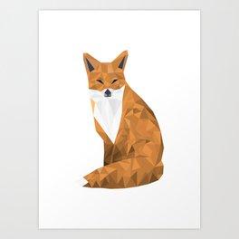 Lowpoly Fox - HD Art Print