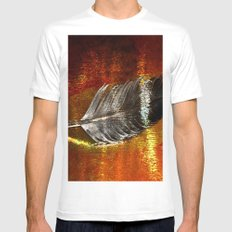 abstract feather# Mens Fitted Tee White MEDIUM