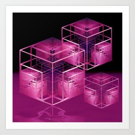 fractal cubes Art Print