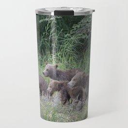 Four Brown Bear Cubs Travel Mug