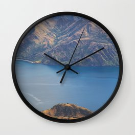 Roys Peak Lookout 1 Wall Clock