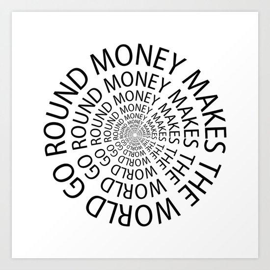Money World Art Print