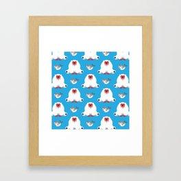 What Do Polar Bears Eat? Framed Art Print
