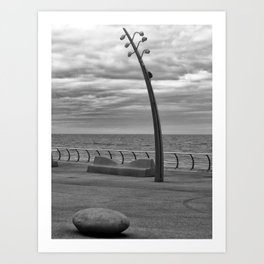 Concrete Coastline - Blackpool Art Print