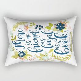 There is no friend as loyal as a book. Ernest Hemingway. Rectangular Pillow