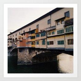 Bridge over the River Arno Art Print