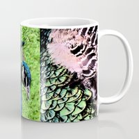 peacock Mugs featuring Peacock by BeachStudio