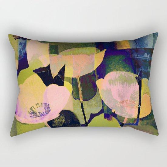 3 abstract flowers  https://society6.com/clemm?promo=X9B3VVZDM7J6 Rectangular Pillow