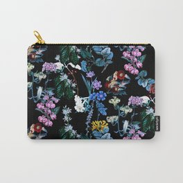 Tropical Nature Vintage Flowers Carry-All Pouch