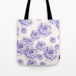 Puple Rose Painting Tote Bag