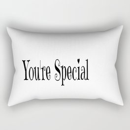 You're Special Typography Rectangular Pillow