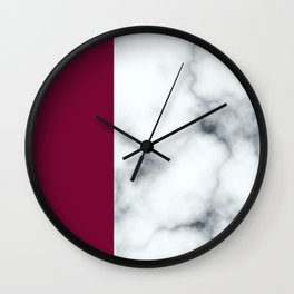 Berry Marble Wall Clock