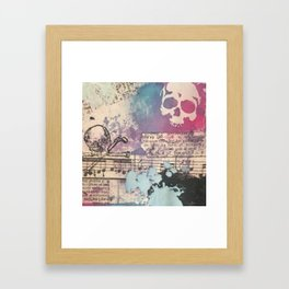 Poetry on Edge Framed Art Print