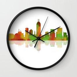 Indiana Skyline 1 Wall Clock