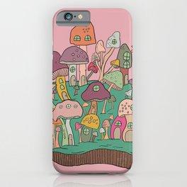 Mushroom Island - Pink, Mushrooms iPhone Case