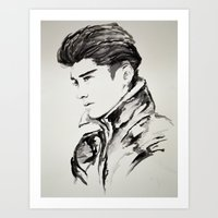 zayn malik Art Prints featuring Zayn Malik by Jade W