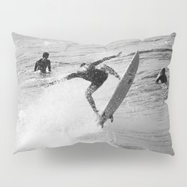 Surfer Launches Off Wave Pillow Sham