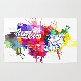 US Coke Map Rug