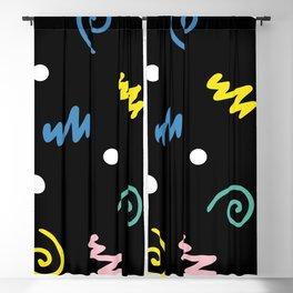 Memphis pattern 55 - 80s / 90s Retro Blackout Curtain