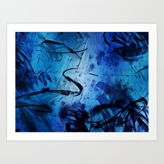 Blue Play Art Print