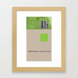 Københavns Universitet Framed Art Print