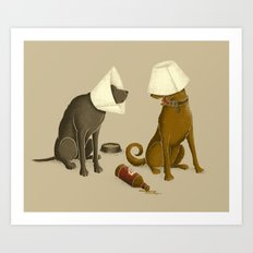 Drunk Dog Art Print