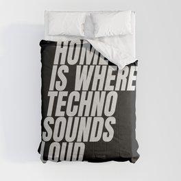 Techno home   Djs gift Comforters