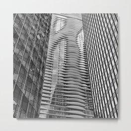 Aqua Trio Metal Print