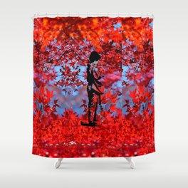 Autumn Kimono Shower Curtain