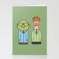 muppets Stationery Cards featuring Bunsen & Beaker – The Muppets by Big Purple Glasses
